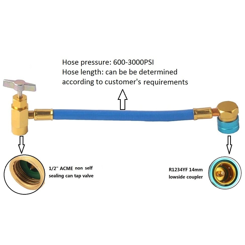 hoteche 2PC Self-Sealing R1234yf A//C Can Tap 1//2 Acme LH Tapper Dispensing Valve Refrigerant