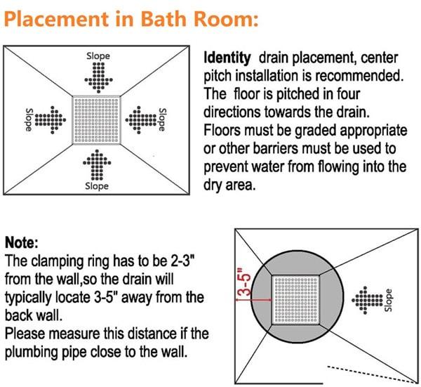 Square Shower Drain