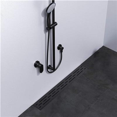 black Linear Shower Drain