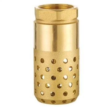 brass check valve with strainer