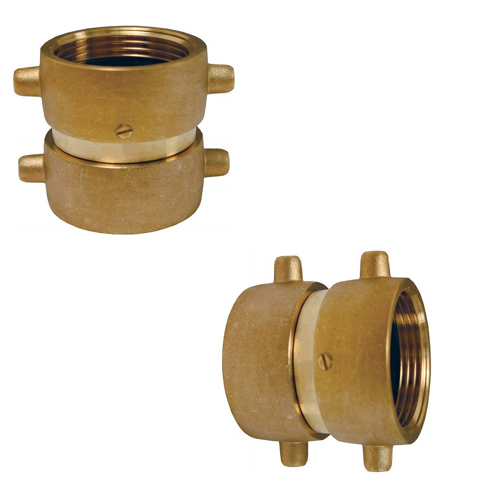 FA011 1-1/2″ NPSH Brass Fire Equipment Double Female Swivel Adapter With Pin Lug