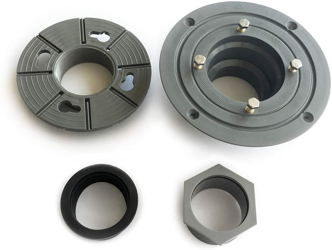 Shower Drain Base with Rubber Gasket